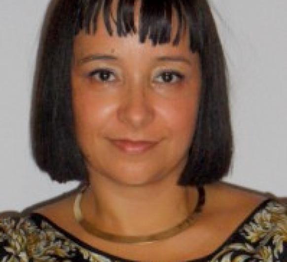 Mª Angeles Sánchez, presentadora oficial de la delegación de Zafra,